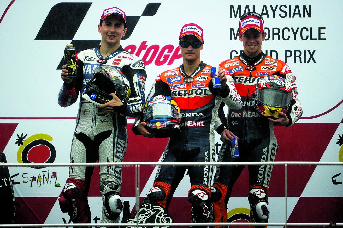 Protagonistas de MotoGP en Malasia