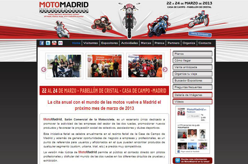 Nueva página web en MotoMadrid