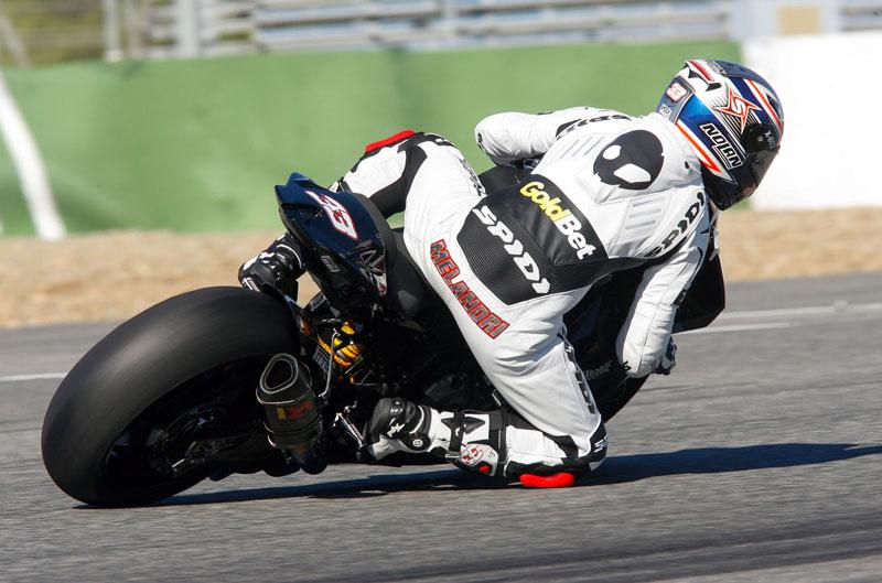Test SBK en Jerez: Melandri y Checa toman el mando