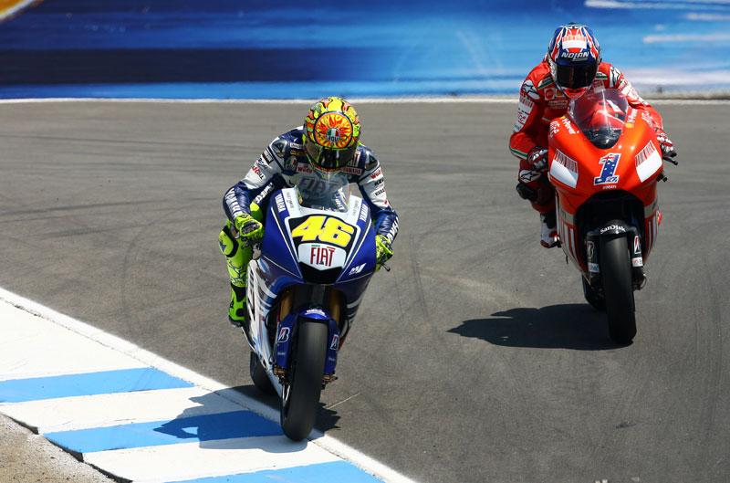 El pique entre Rossi y Stoner
