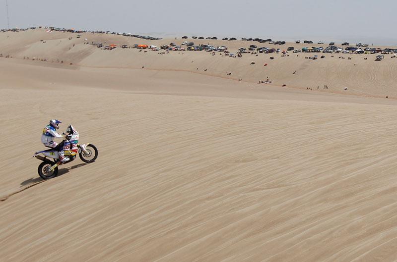 Chaleco López gana la primera etapa del Dakar 2013