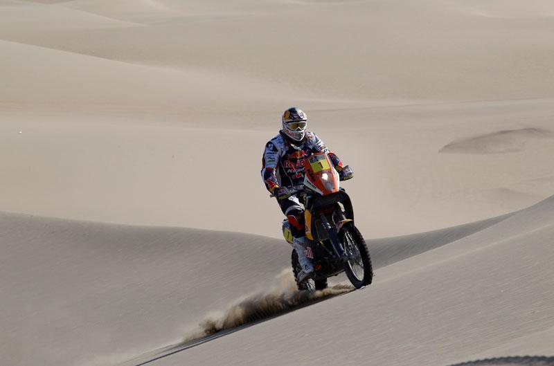 Cyril Després se pone primero en el Dakar