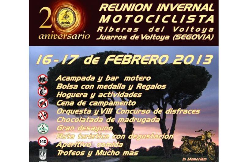 XX Reunión Invernal Motociclista Riberas del Voltoya