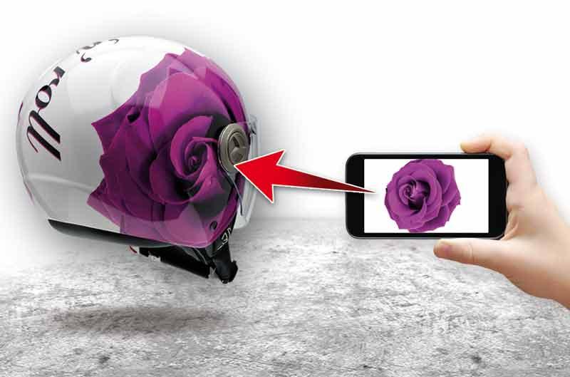Diseña tu casco con tus fotos