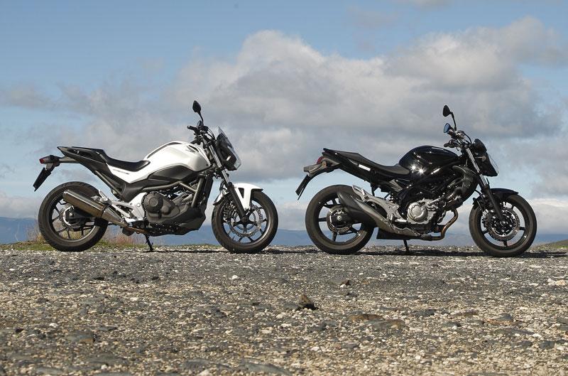 Comparativa Honda NC700S y Suzuki Gladius