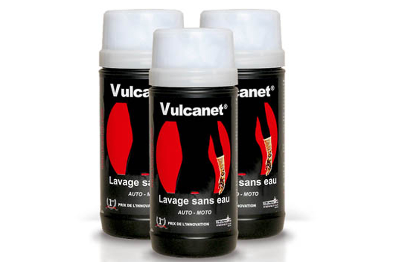 Vulcanet, lava, abrillanta y protege... sin agua