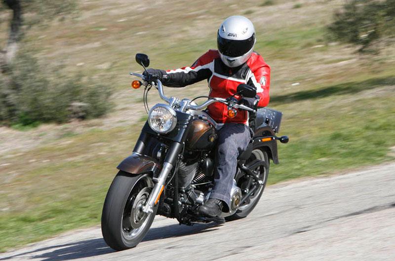 Harley-Davidson Fat Boy Special Anniversary. Prueba