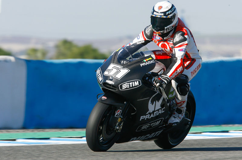 Ducati prueba un nuevo chasis en Jerez