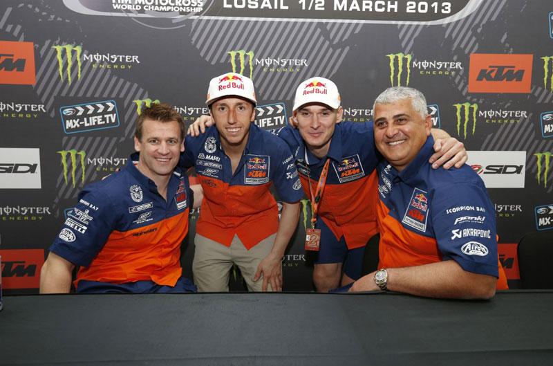 KTM y Cairoli, juntos hasta 2016