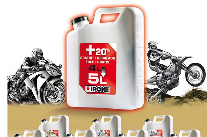 Ipone regala un litro de aceite 4T