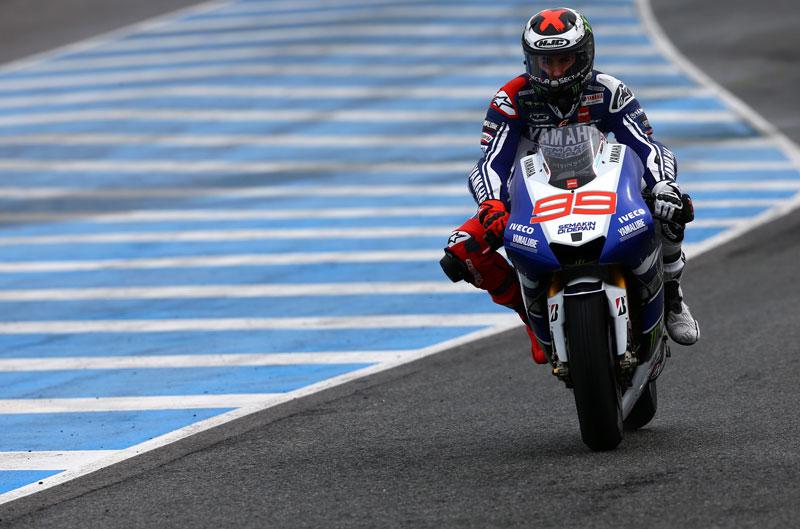Lorenzo el más rápido bajo la lluvia en Jerez