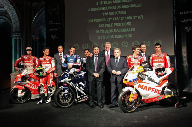 Presentación de los equipos Aspar de MotoGP, Moto2 y Moto3