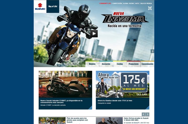 Nueva página de Internet de Suzuki