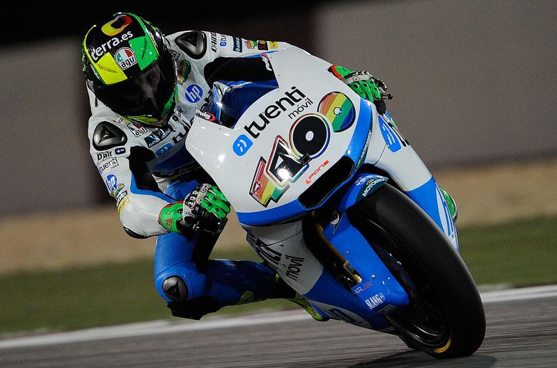 Pol Espargaró vuela para conseguir el mejor tiempo en Moto2