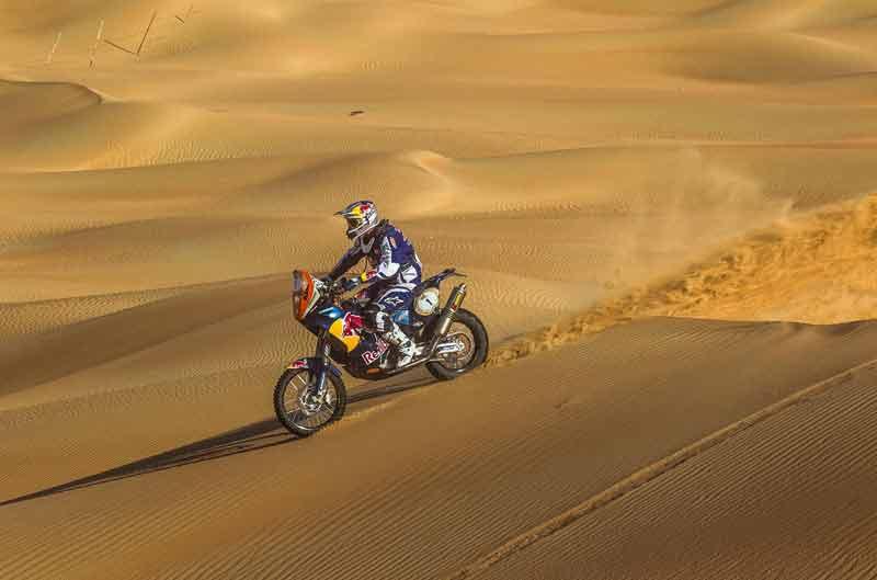 Marc Coma finaliza tercero en la tercera etapa de Abu Dhabi