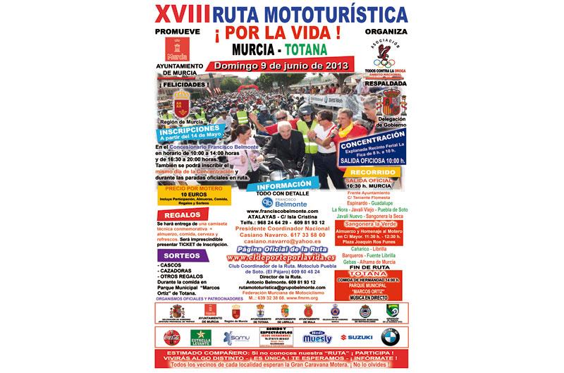 XVIII Ruta mototurística por la vida