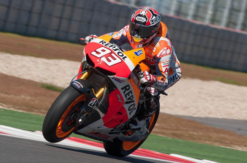 Marc Márquez logra el mejor tiempo de MotoGP el primer día en Texas