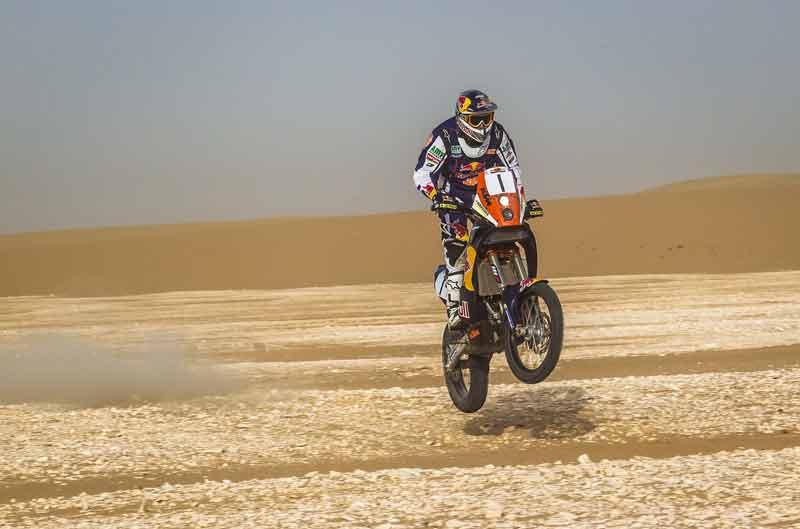 Marc Coma mantiene el liderato en la segunda etapa del Rally de Qatar