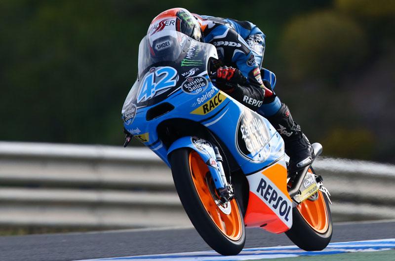 Alex Rins, mejor tiempo de Moto3 en Jerez