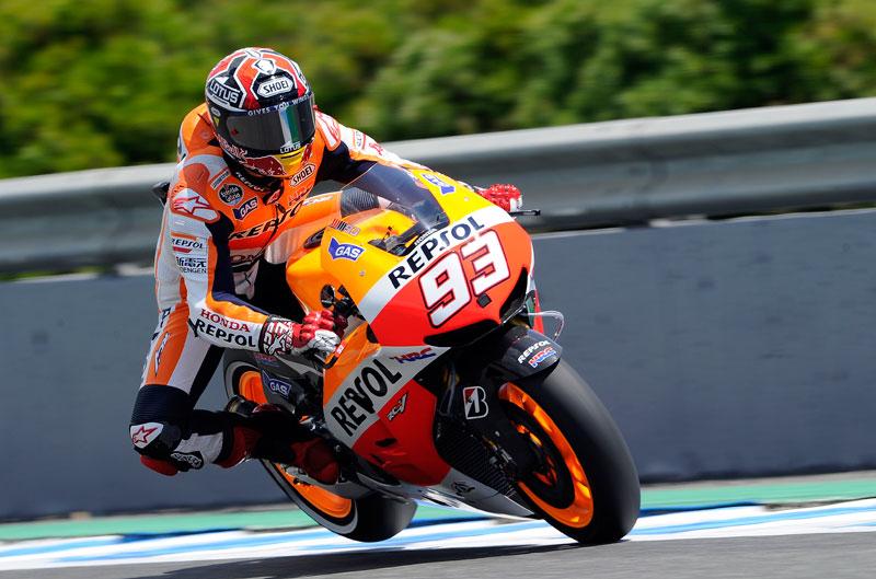 Márquez, el más rápido en el test de Jerez