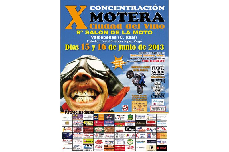 X Concentración motera ciudad del vino Valdepeñas