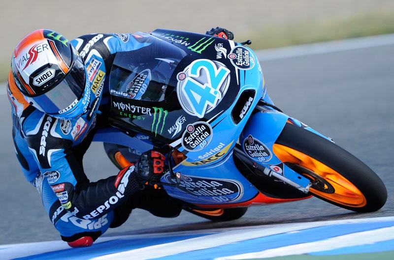 Alex Rins, primero en los entrenamientos de Moto3 en Francia