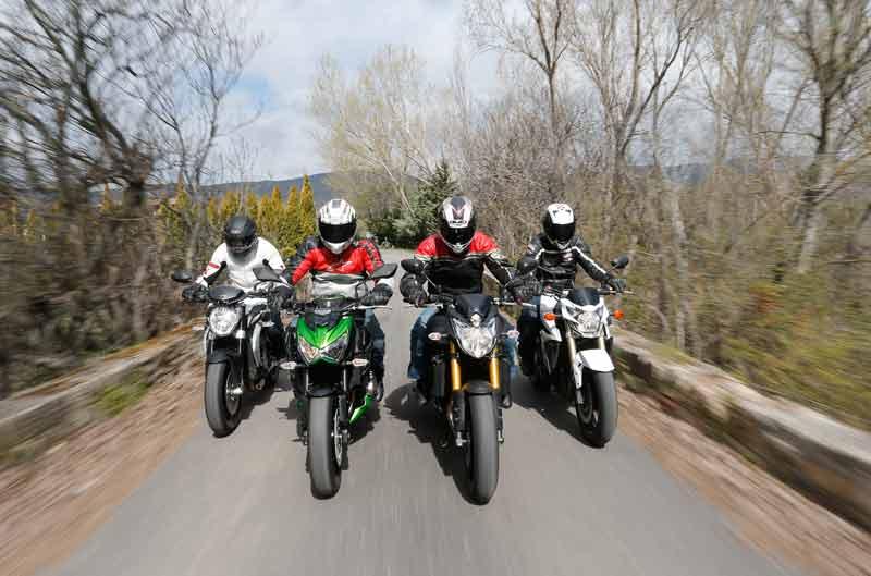 Comparativa naked: Kawasaki, MV Agusta, Suzuki y Yamaha