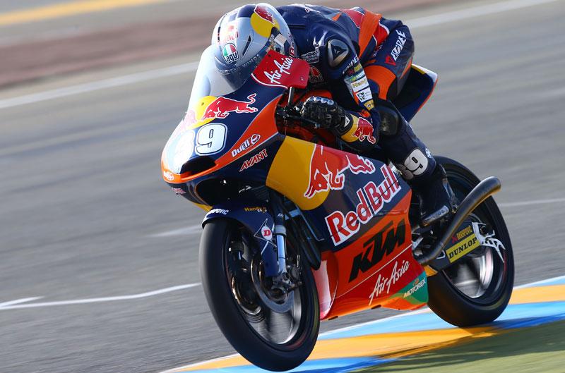 Luis Salom termina el día con el mejor tiempo de Moto3 en Mugello