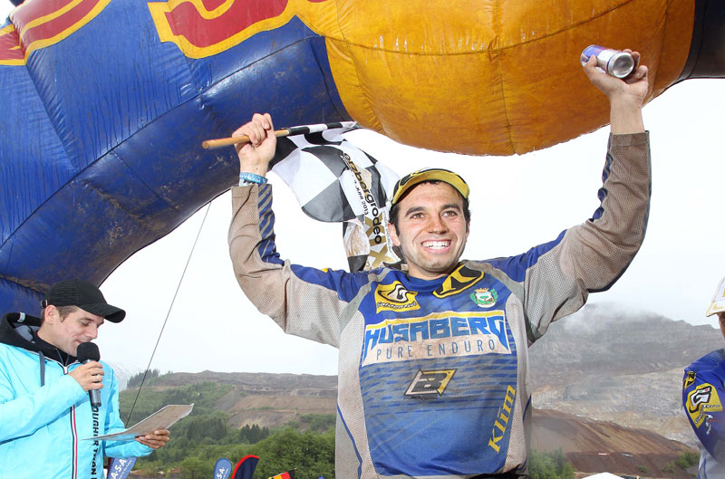 Alfredo Gómez: podio en el Erzberg Rodeo