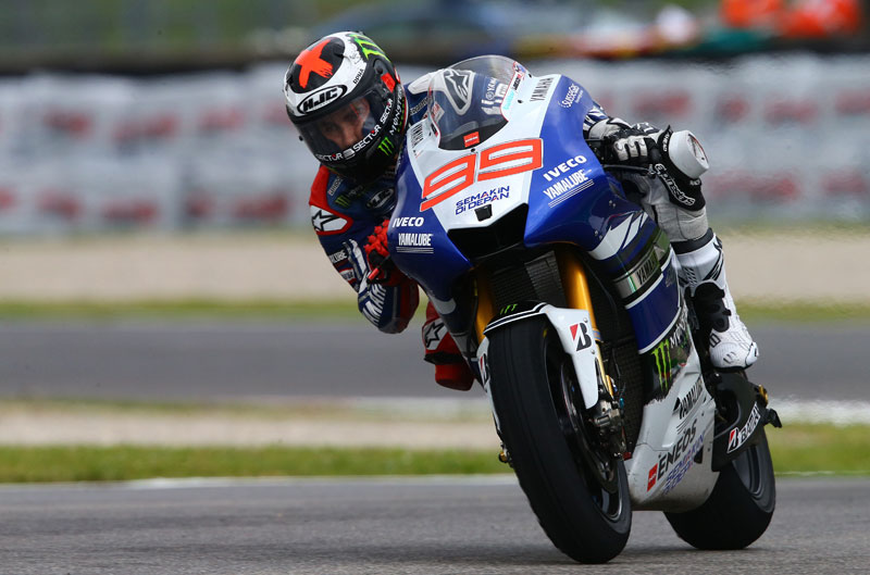 Jorge Lorenzo, el más rápido en el FP1 en Cataluña