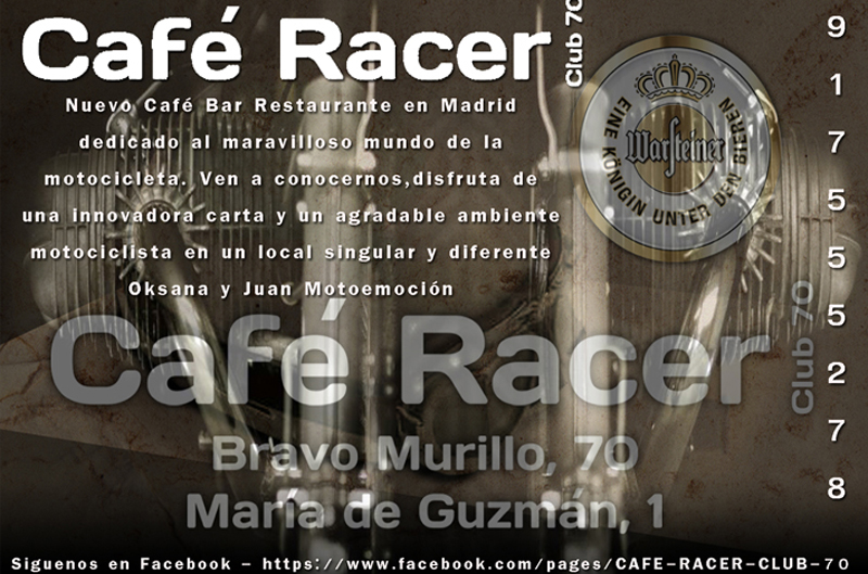 Conoce el nuevo Café Racer Madrid