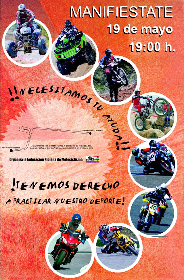 Manifestación en defensa de la moto