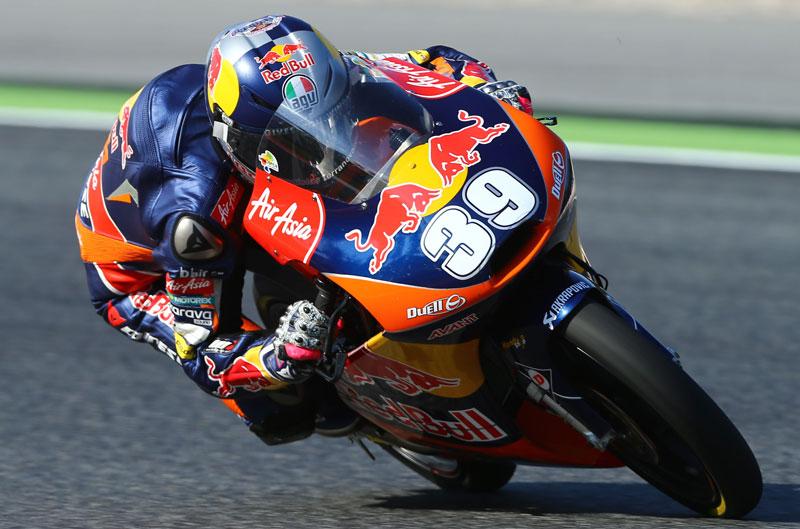 Luis Salom, mejor tiempo en el FP2 de Moto3 en Assen