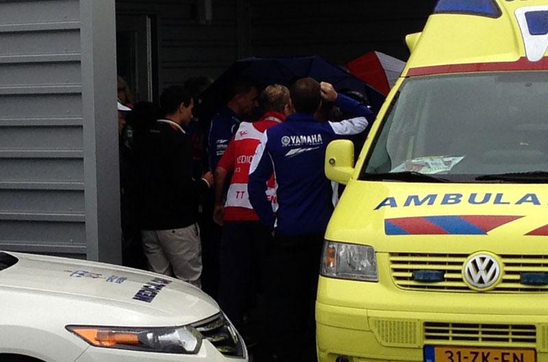 Pedrosa, Márquez y Rossi hablan de la caída de Lorenzo