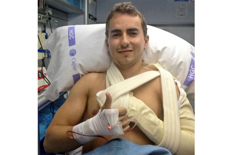 Lorenzo ya ha sido operado en Barcelona