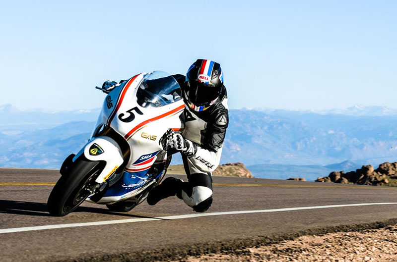 Una moto eléctrica gana en Pikes Peak