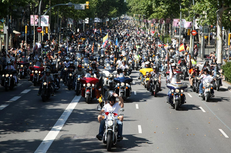 Récord de participación en el Barcelona Harley Days