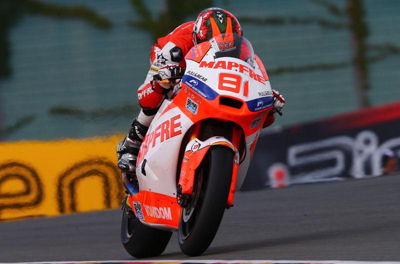 Jordi Torres, el más rápido de Moto2 en los últimos libres