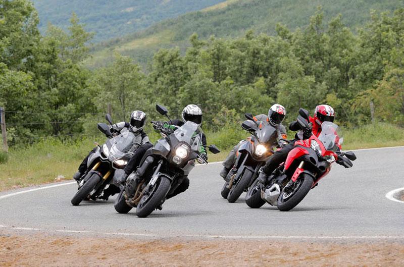 Comparativa Trail: Aprilia, Ducati, Kawasaki, KTM.