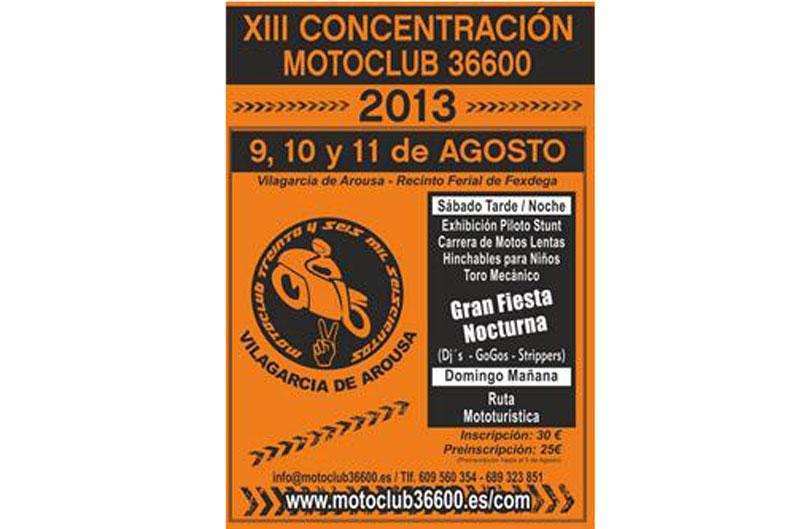 XIII CONCENTRACIÓN MOTOCLUB 36600