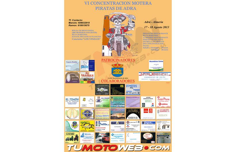 VI CONCENTRACIÓN MOTERA PIRATAS DE ADRA 2013