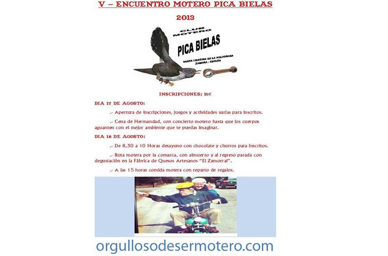 "V Encuentro motero ""Pica Bielas"""