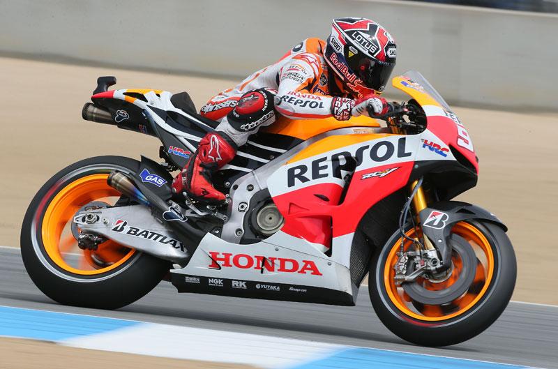 Marc Márquez aprieta en los primeros libres de MotoGP