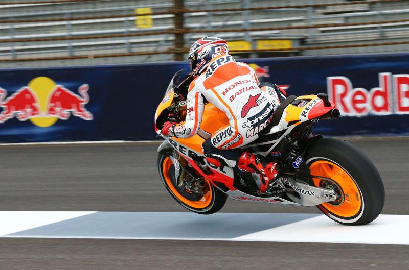 Marc Márquez vuelve a lograr el mejor tiempo de MotoGP en Indy