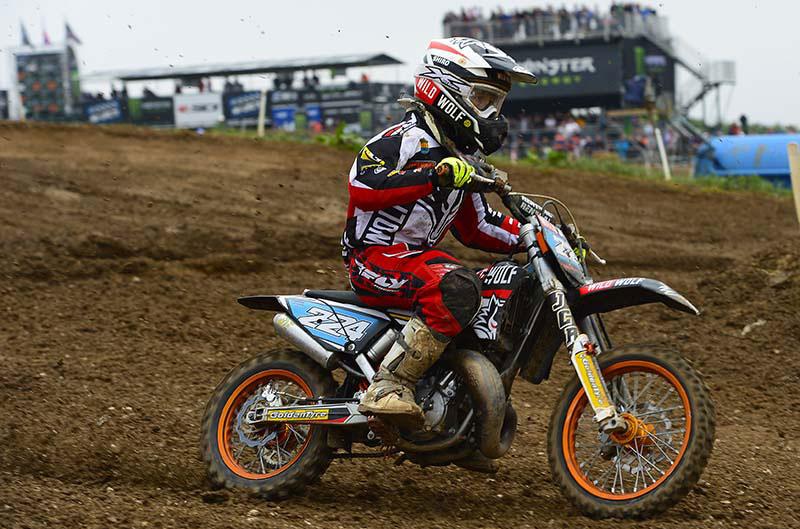 David Braceras, subcampeón de Europa de MX65cc