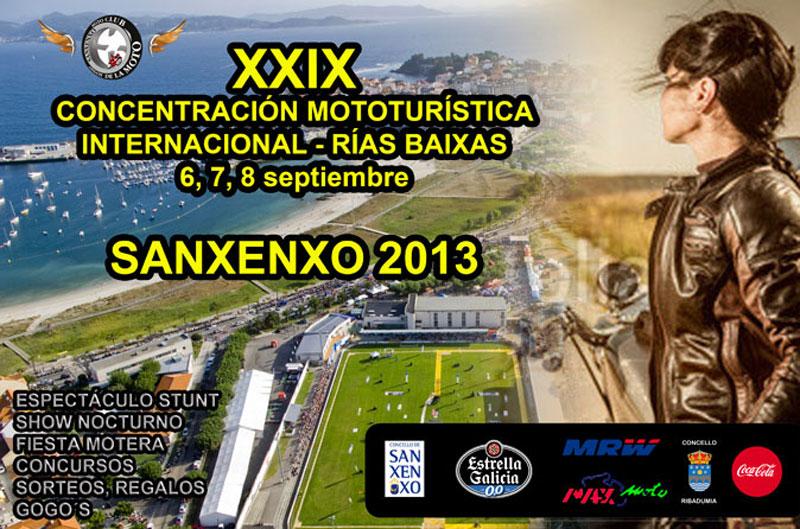 XXIX Concentración Mototurística Rías Baixas-Sanxenxo 2013