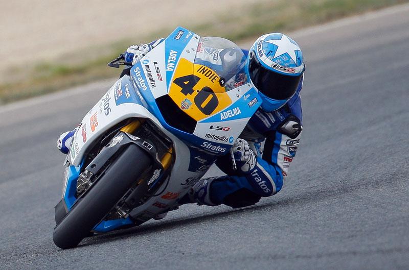 Román Ramos ejerce de líder en Moto2