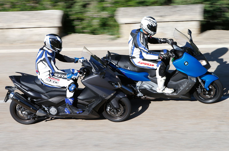 Comparativa BMW C 600 Sport y Yamaha T-Max 530