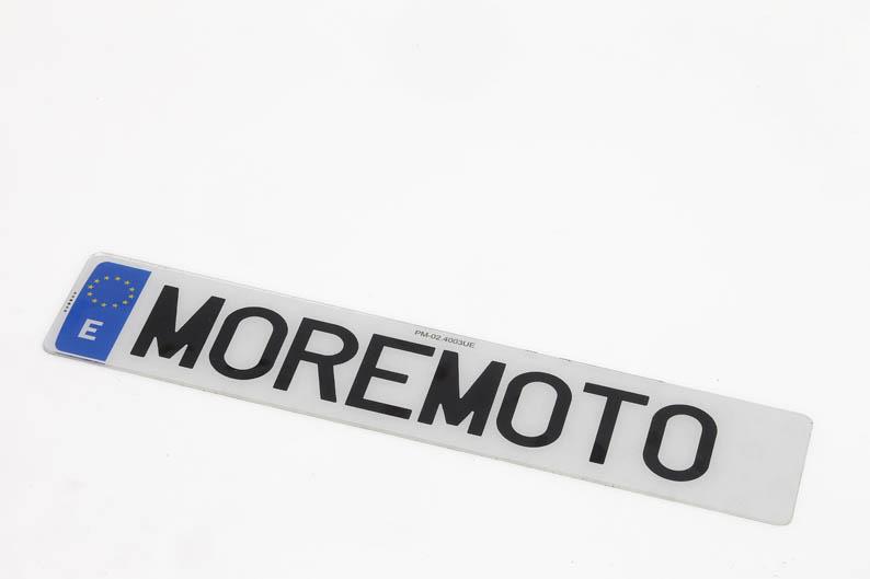 Placas de matrícula acrílicas Moremoto Racing