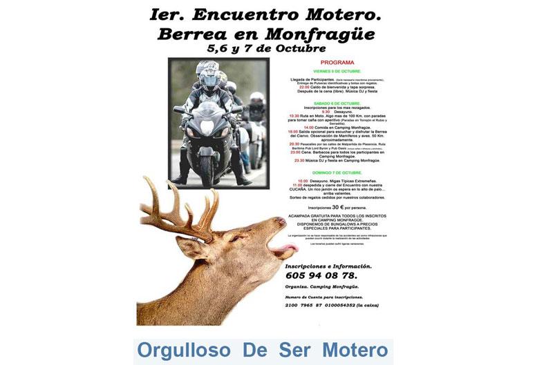 II Encuentro Motero Berrea en Monfragüe 2013
